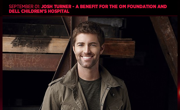 SEPTEMBER 01: JOSH TURNER BENEFIT