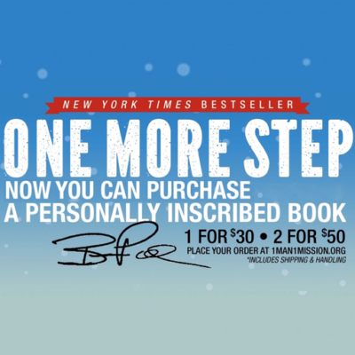 One More Step Personally Inscribed Book (Single)